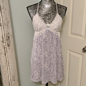 Victoria's Secret purple leopard night dress